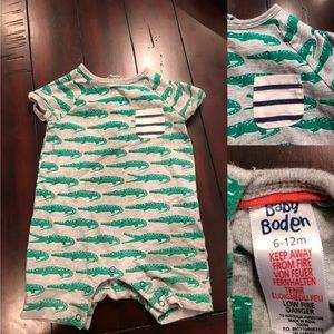 Great Used Condition Boys Mini Boden Romper
